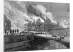 Engraving Genview Hotel De Ville Burning by Corbis