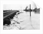 River Flood Waters Wash Around Rr Trestl by Corbis