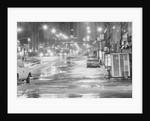 Night Flood In Midtown Street W/Cars by Corbis