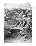 Aerial Of Crater Formed By Explosion by Corbis
