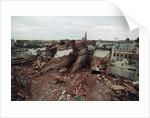 Destroyed Buildings Overflow Alleys by Corbis