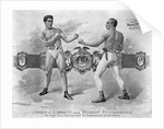 19th Century Boxers Facing Off by Corbis