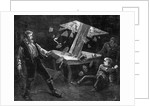 Family Recoil Wood Crashes Storm Cellar by Corbis