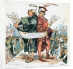 Political Cartoon Of Stevenson-Cleveland by Corbis