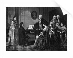 Illustration of Beethoven Performing Before Mozart by Corbis