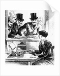 Men Admiring Woman Telegraph Operator by Corbis