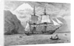 HMS Beagle in Straits of Magellan by Corbis