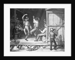 Two Men Barn Dancing With Fiddler by Corbis