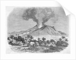 Eruption of Mount Pelee, in the Island of Martinique Engraving by Corbis