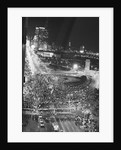 Overhead Protest @Dem Convention @Night by Corbis