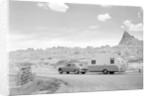 Automobile & Trailer On Badlands Highway by Corbis
