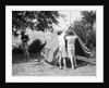 Boys Pitching a Tent by Corbis