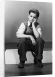Boy in Dejected Pose by Corbis