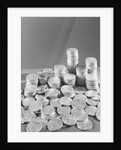 Stacks Of American Silver Dollars by Corbis