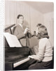 Boy and Girl Playing Instruments by Corbis
