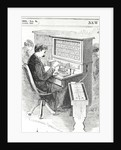 Print of a Man at an Electrical Tabulation Machine by Corbis