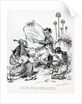 Pol. Cartoon W/John Bull Holding Bundle by Corbis