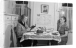 Mother And Daughter Having Dinner by Corbis