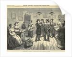 Crowd Enjoying Food & Drink In Saloon by Corbis