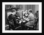 Bridge Players at Table by Corbis
