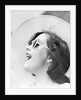 Woman with Sunglasses Wearing Straw Hat by Corbis