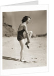 Woman Wearing Sandals at the Beach by Corbis