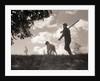 Hunter Walking with Bird Dog by Corbis