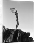 Woman in Bathing Suit Holding a Scarf by Corbis