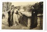 Dante & Beatrice Meet Along The Arno by Corbis