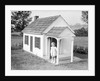Girl Standing on Playhouse Porch in Massachusetts by Corbis