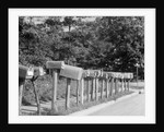 Row of Mailboxes by Corbis