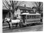 Horse-Drawn Streetcar In The Bronx by Corbis