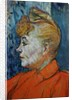Detail of Woman in Red by Henri de Toulouse-Lautrec