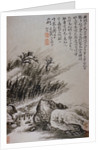 Figure Crossing a Bridge from an Album of Twelve Landscape Paintings by Tao Chi