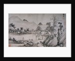 Figure Crossing a Bridge from Album of Eight Landscape Paintings by Shen Chou