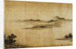 Detail Showing Mountains and Water from a Jin or Yuan Dynasty Painting entitled Clear Weather in the Valley, formerly attributed to Dong Yuan by Corbis