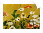 Detail of Poppies Edo Period Screen by Corbis