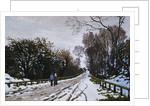 Road Toward the Farm, Saint-Simeon, Honfleur by Claude Monet