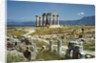 Distant View of the Temple of Apollo at Corinth by Corbis
