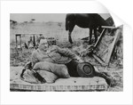 British Official Cecil Rhodes Lying on Mattress Outdoors by Corbis