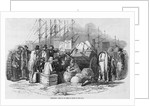Emigrants Arrival at Cork Illustration by Corbis