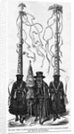 The Holy Week at Quito - Burgomaster Accompanied by Two Cucuruchus Holding the Cords of the Standard by Corbis