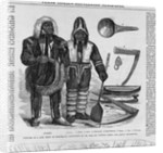 Costume of a New Tribe of Eskimos, Discovered by Dr. Rae, on Victoria Land; and Arctic Implements by Corbis