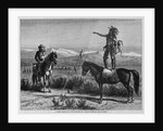 A Chief Forbidding the Passage of a Train Through his Country by Corbis