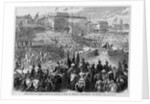 Coronation of Francis Joseph of Austria as King of Hungary - brandishing the sword by Corbis