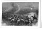 A drove of Texas cattle crossing a stream by A. R. Waud