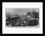 The coal depot at Rondout, New York by Theodore R. Davis