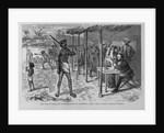 The war in Paraguay - headquarters of President Lopez. From a sketch by General McMahon by Corbis