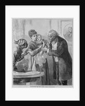 Vaccinating the baby. From a sketch by Sol Eytinge by Corbis