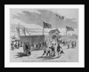 Free swimming baths, foot of fifth street, east river. From a sketch by Stanley Fox by Corbis